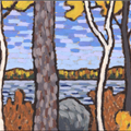 Autumn Birch Pine Boulder - 